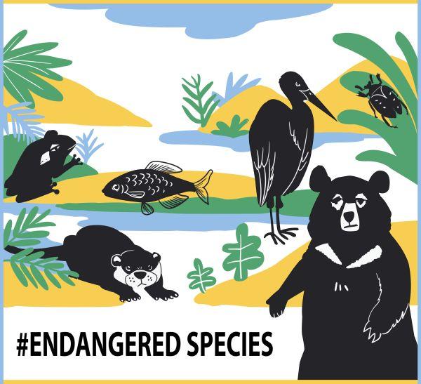 <우리,친해지구> 멸종위기종 장바구니 디자인